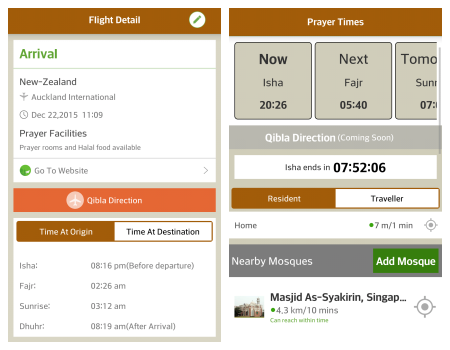 HalalTrip Mobile App for Ramadan 2018: Prayer times on land, air or sea