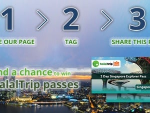 Stand a Chance to Win 2 HalalTrip Passes to Singapore with HalalTrip's