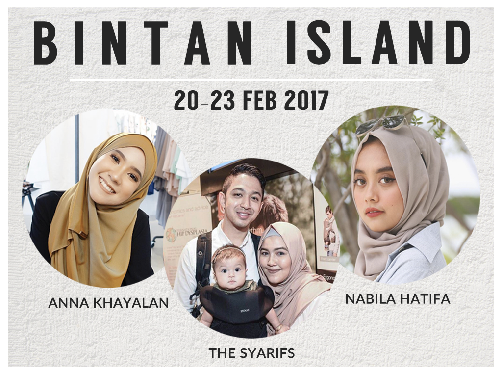 HalalTrip to Bintan with The Syarifs, Nabila Hatifa & Anna Khayalan!
