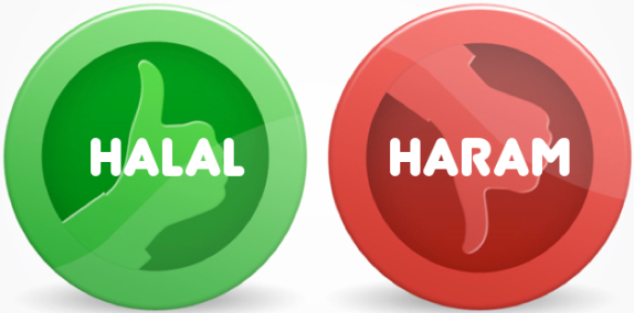 Halal and Haram signs in Arabic