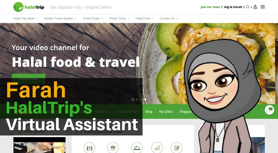 Farah the HalalTrip Virtual Assistant