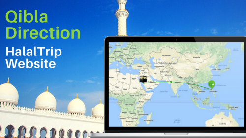 Finding Qibla Direction Using HalalTrip's Website