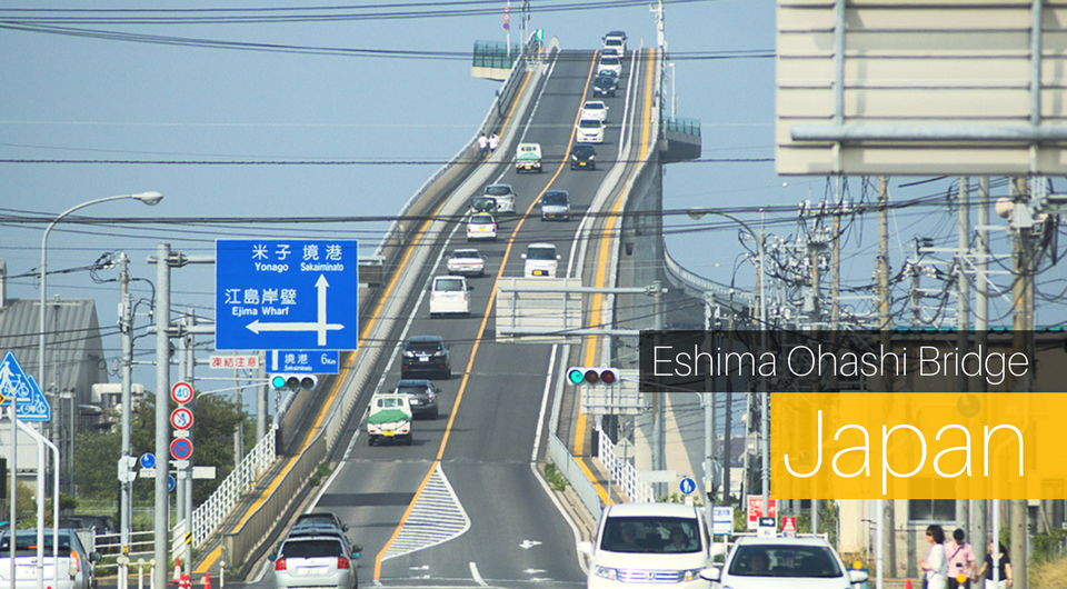 Eshima Ohashi Bridge in Japan - A Terrifying Sight!