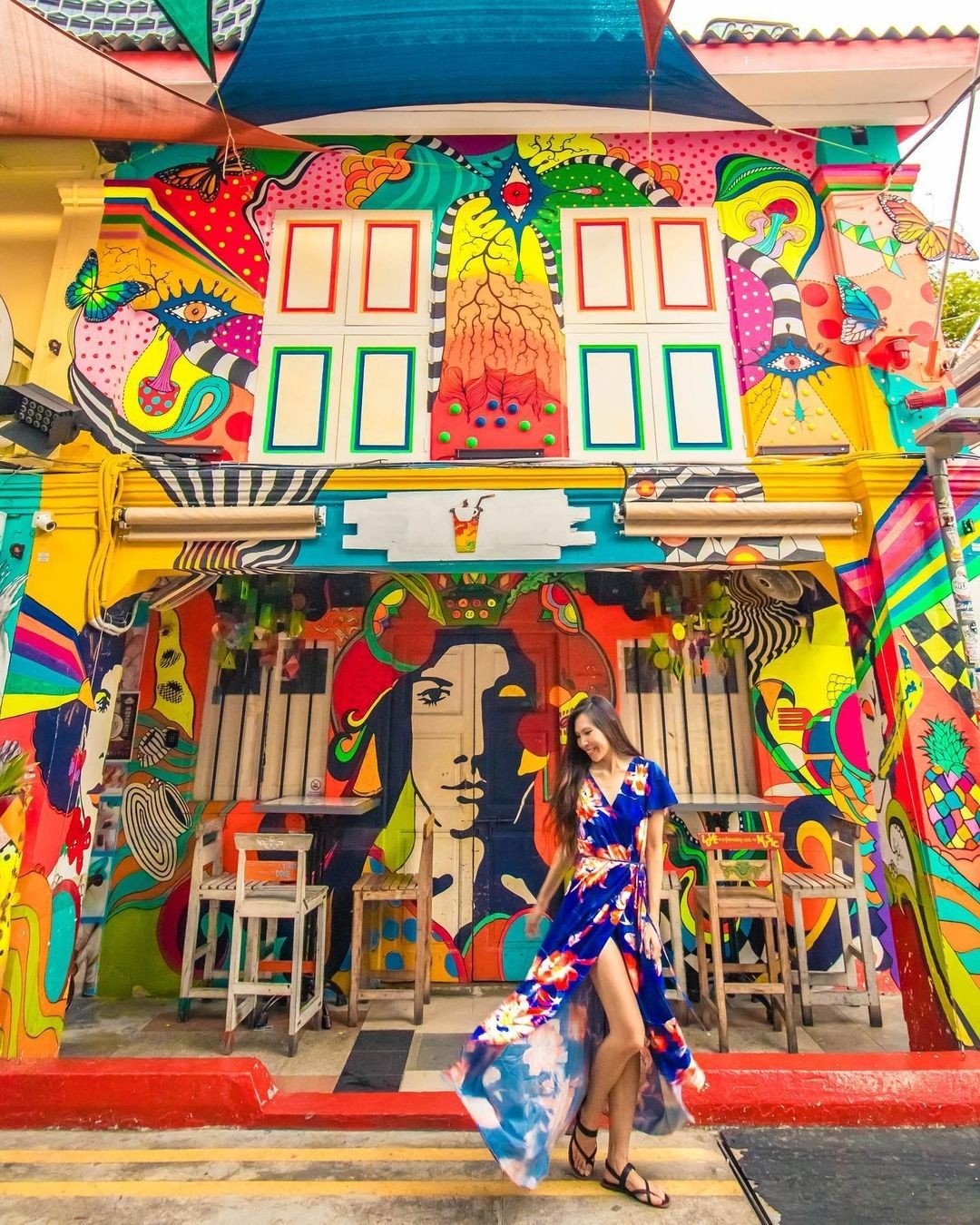 Instagrammable places in singapore: Haji Lane