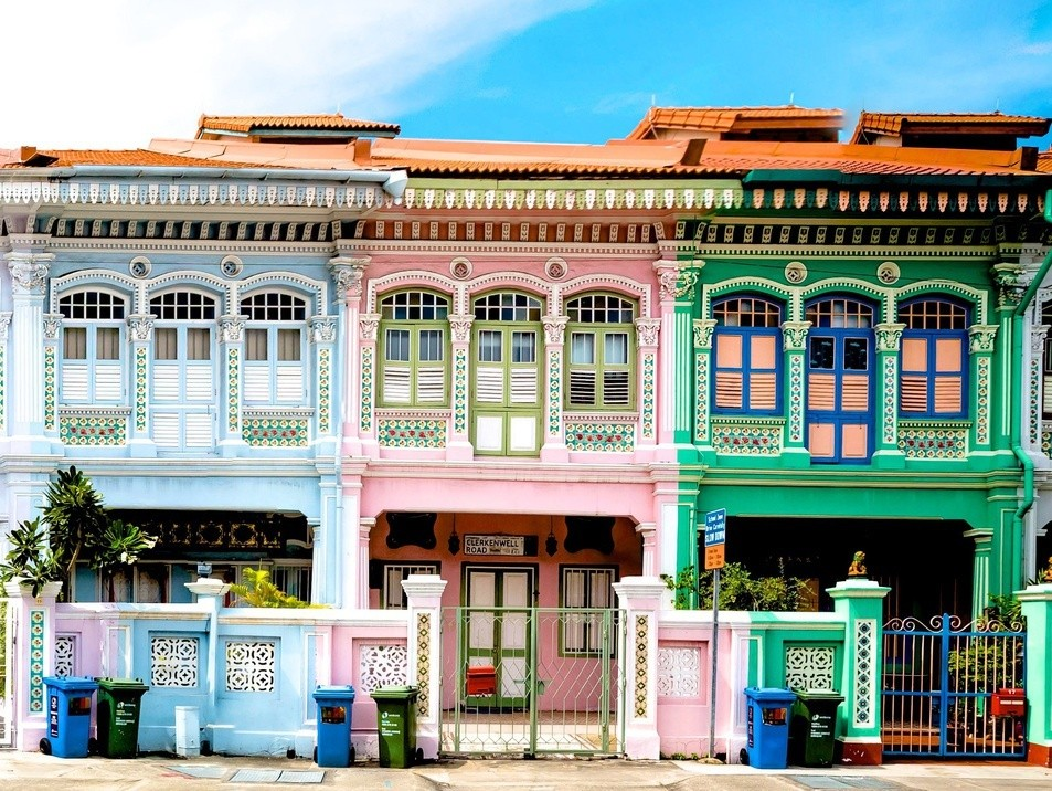 instagram-worthy places in singapore: Katong Shophouses