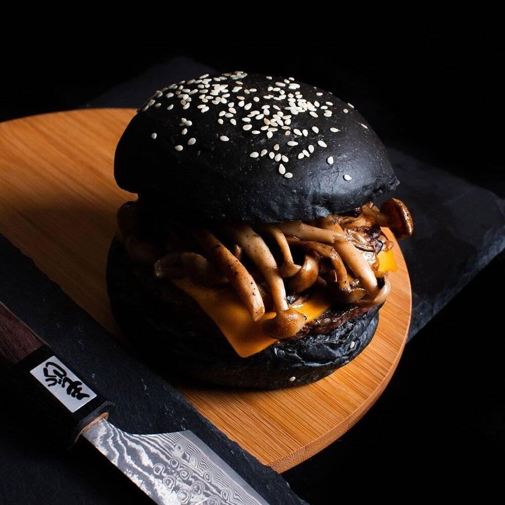 Ashes Burnnit Truffle Mushroom Burger - Best halal food in the east