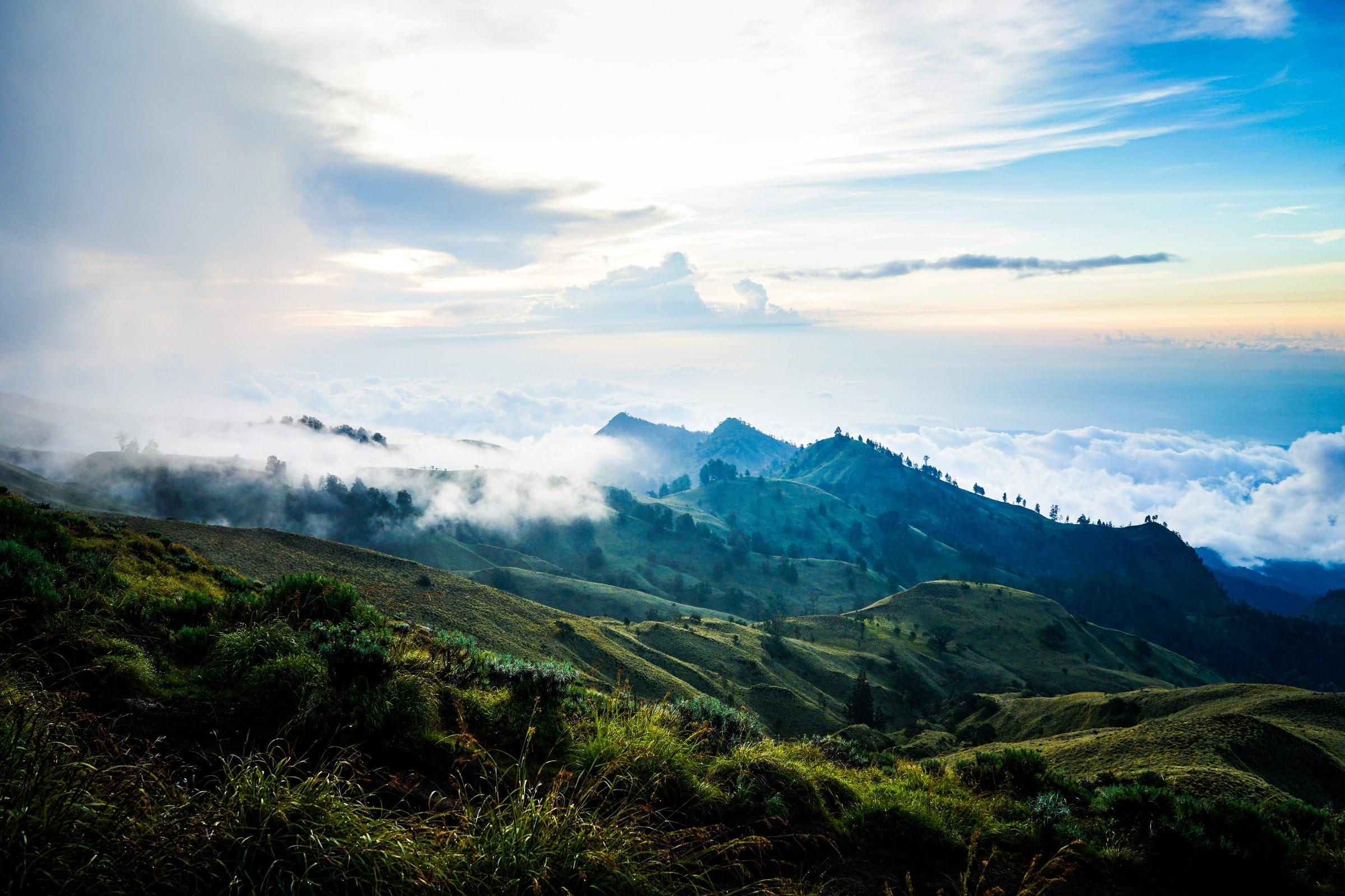 Gunung Rinjani Tenggara Barat Indonesia