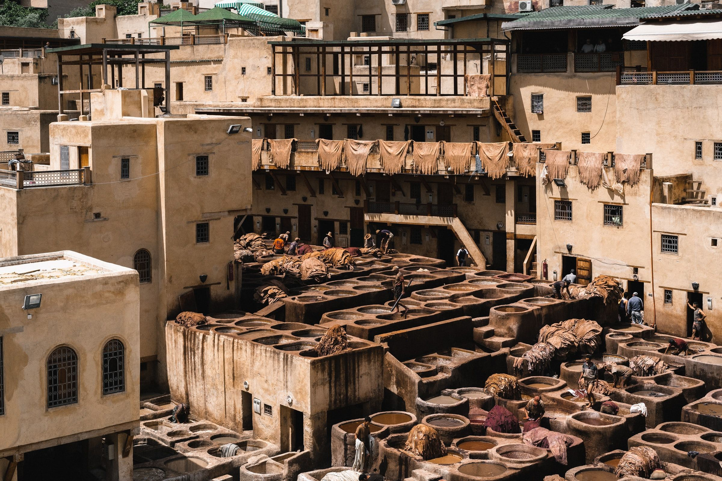 Tanneries Fez Morocco