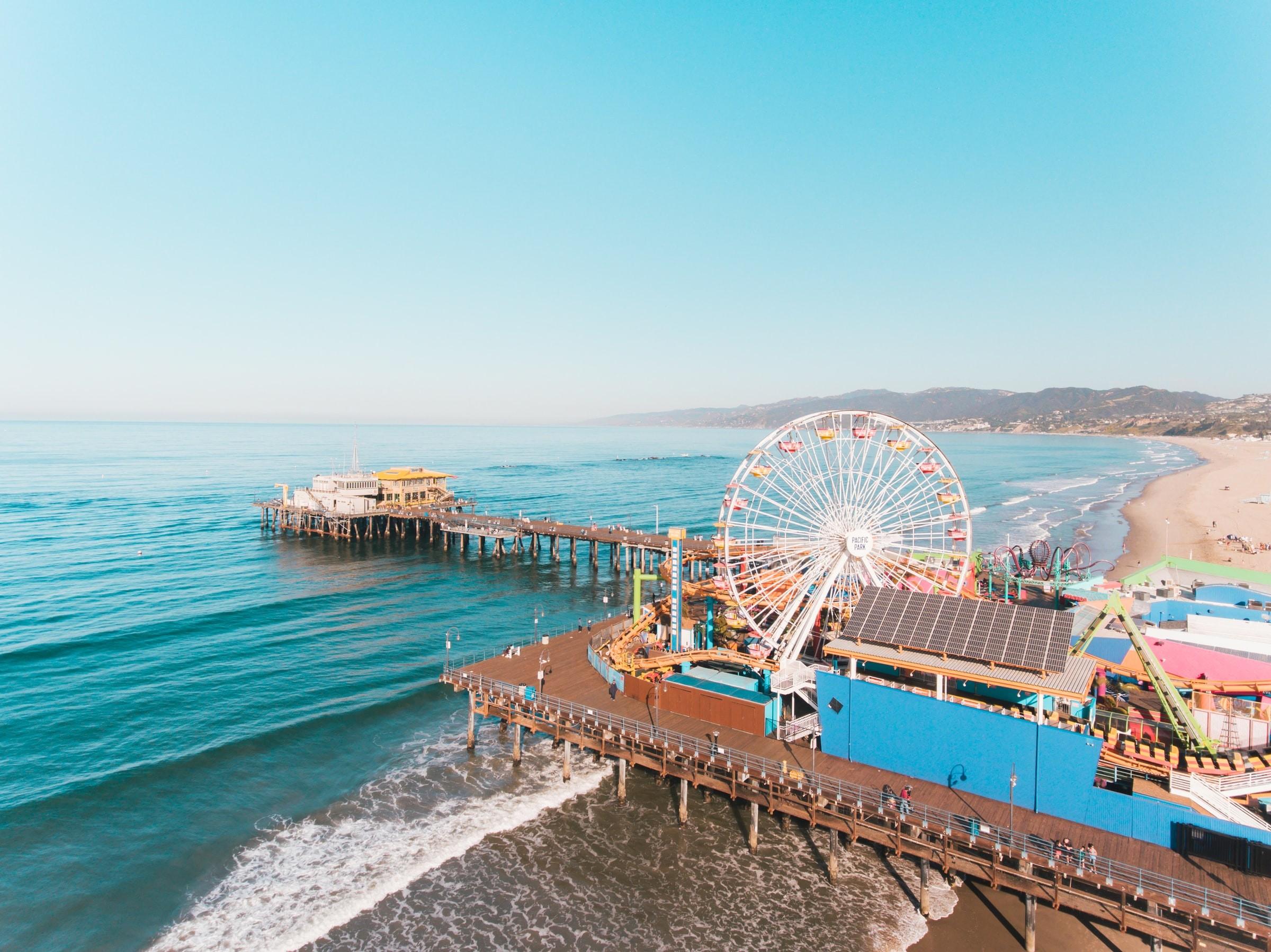 Santa Monica Pier Venice Beach Los Angeles USA