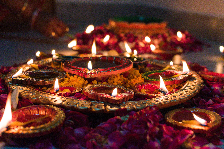 Diyas for Deepavali celebrations