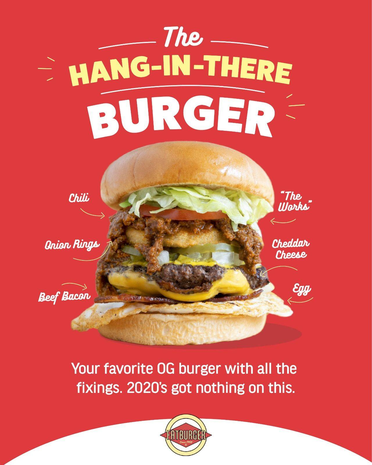 Fatburgers Hang in there burger cineleisure orchard flagship store