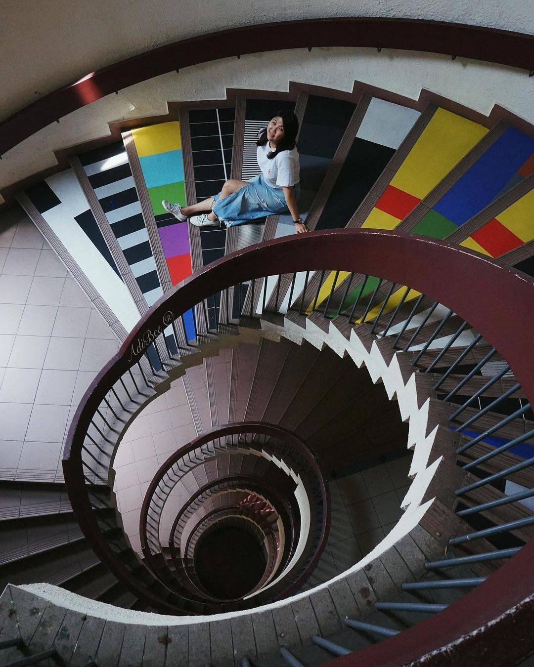 The Projector Singapore Spiral Staircase
