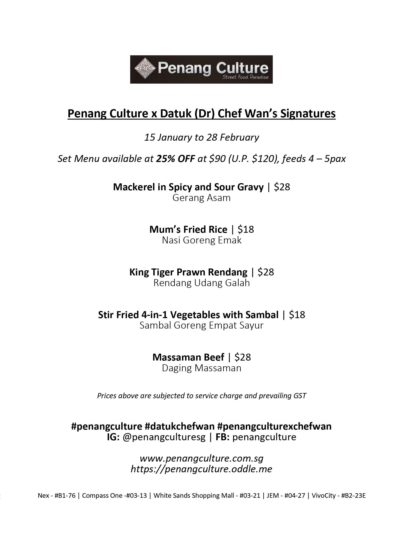 Chef Wan Penang Culture HalalTrip Malaysia Food Hawker