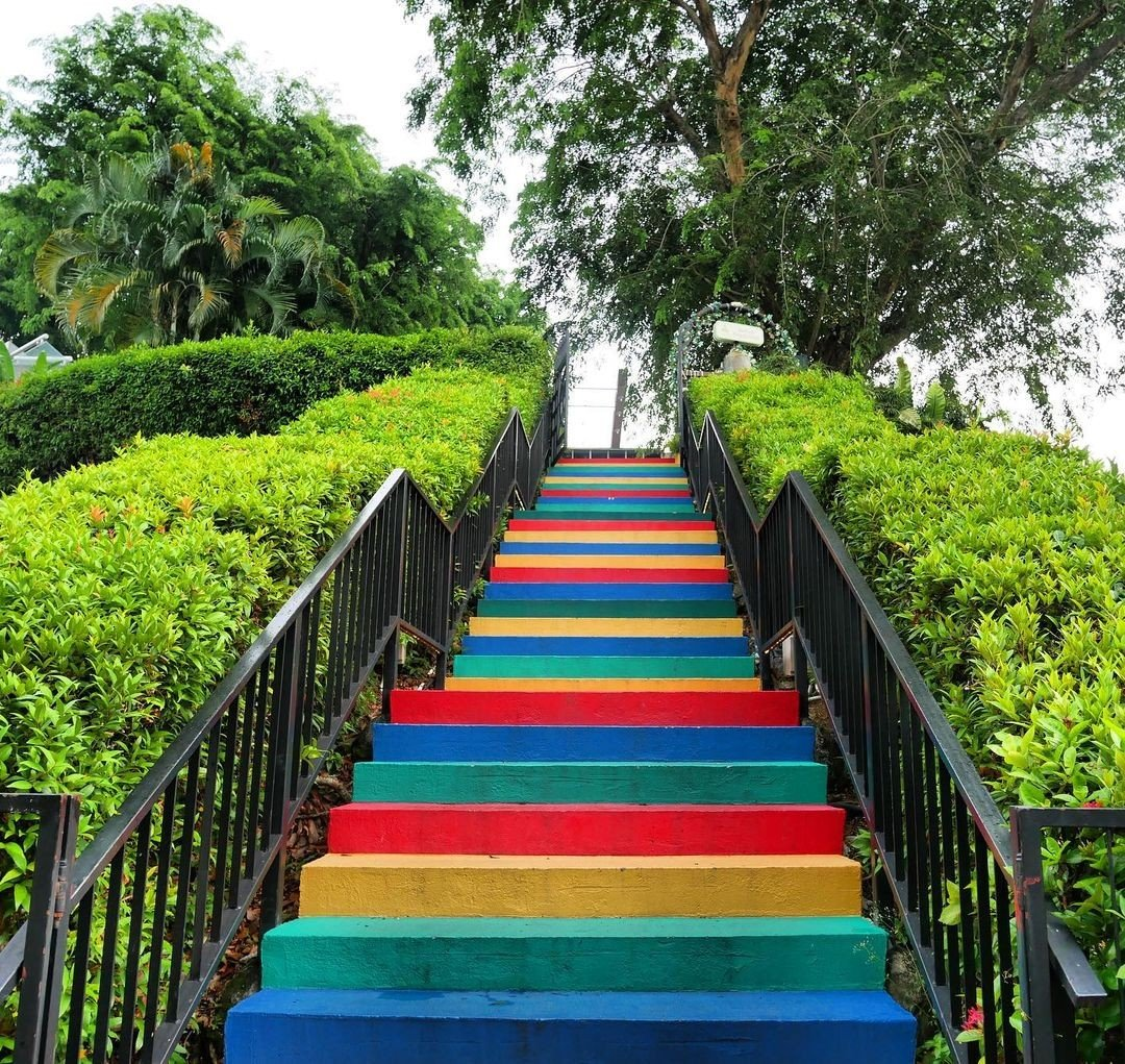 Rainbow Staircase stairs Faber Walk Southern Ridges Singapore