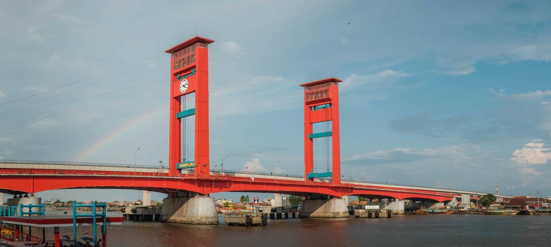 Jembatan Ampera Sumatra Selatan Indonesia