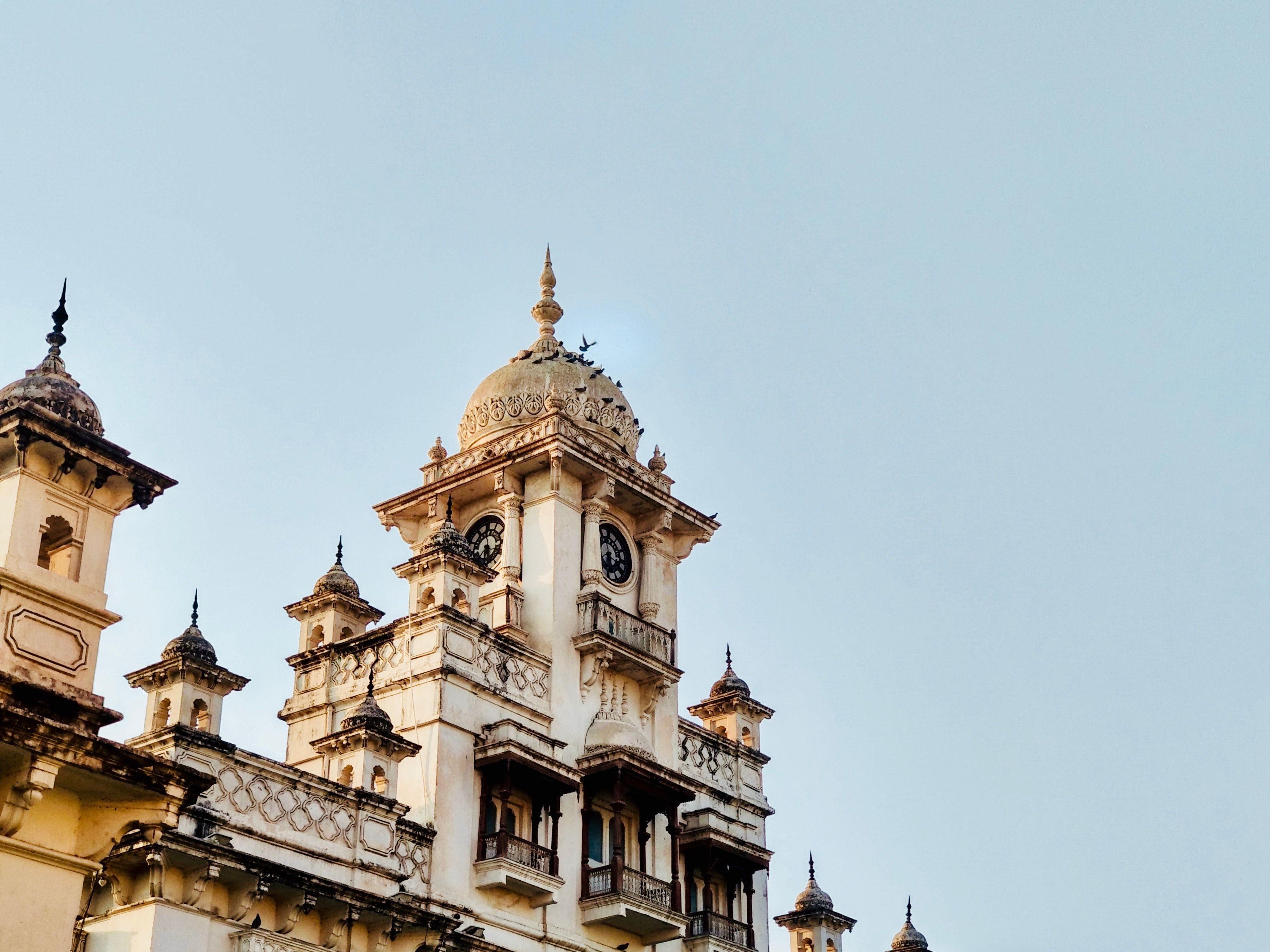 Clock Tower at ChowMahalla Palace, Hyderabad, India