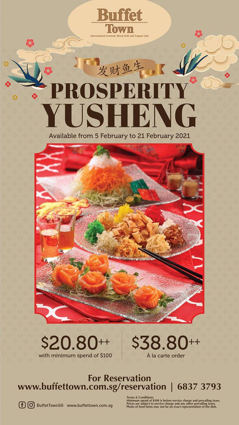 Buffet Town Prosperity Yusheng Halal Lo Hei Singapore