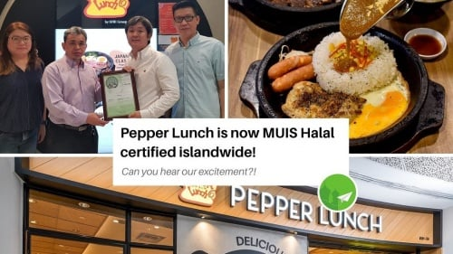 [Breaking News] Pepper Lunch is now Halal in Singapore