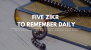 Five Zikr To Remember Daily