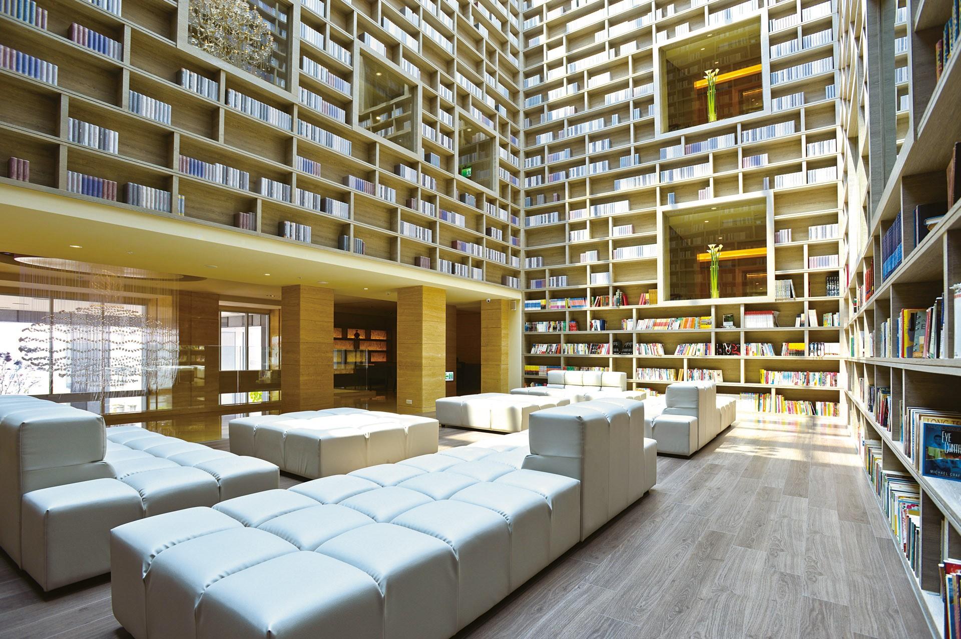 Library The Gaia Hotel Taipei Taiwan