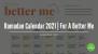 Ramadan Calendar 2021 | For A Better Me
