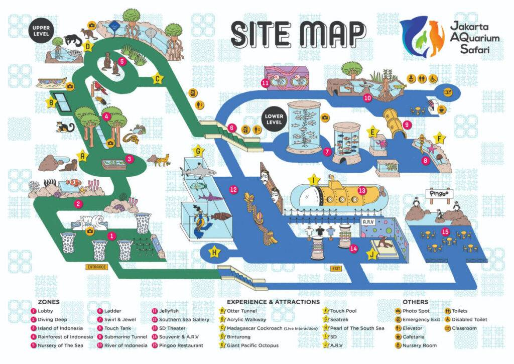 Jakarta Aquarium & Safari Map Indonesia