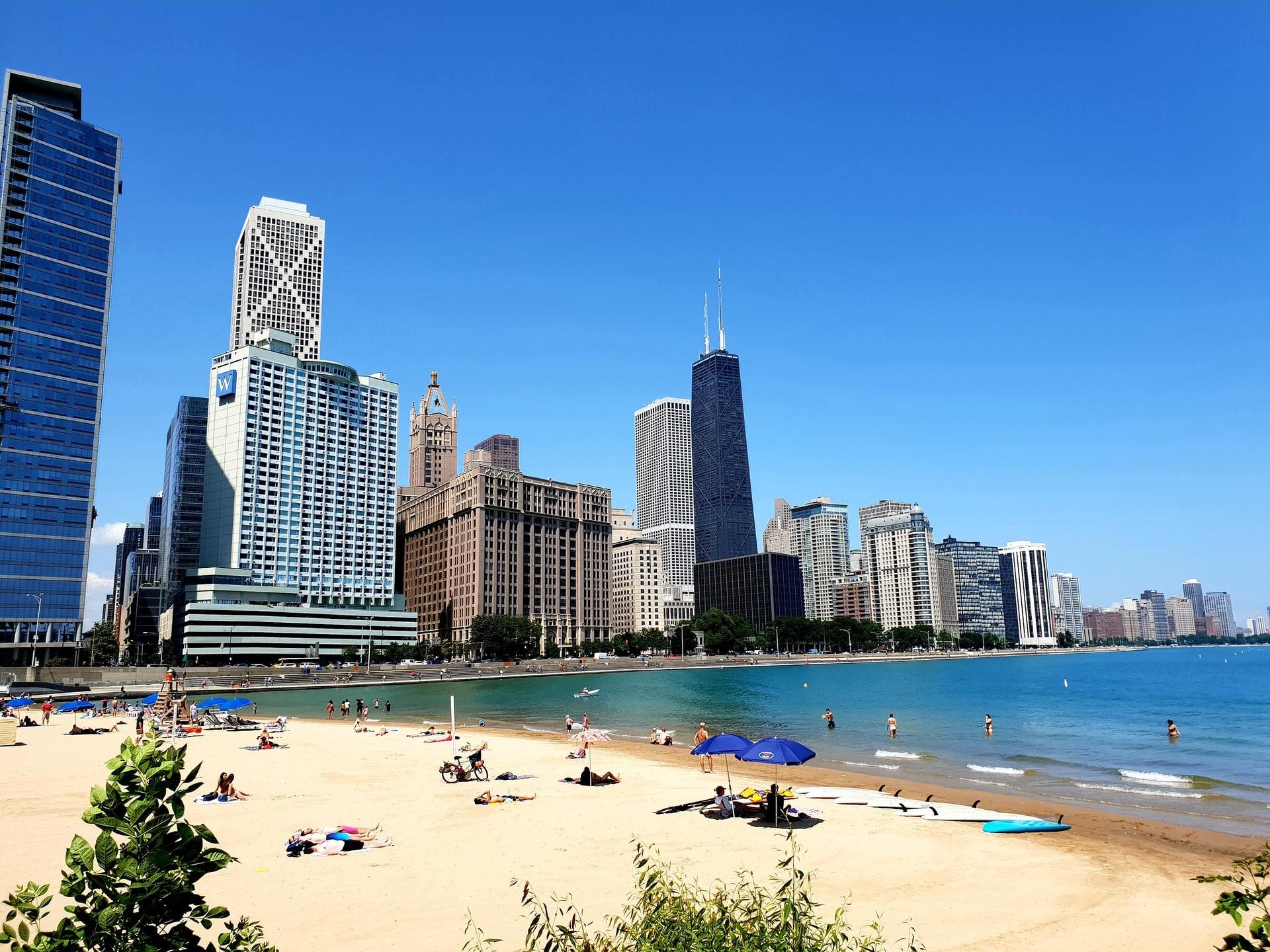 Montrose Beach Chicago USA