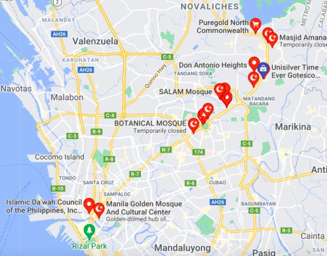 Mosques in Quezon city