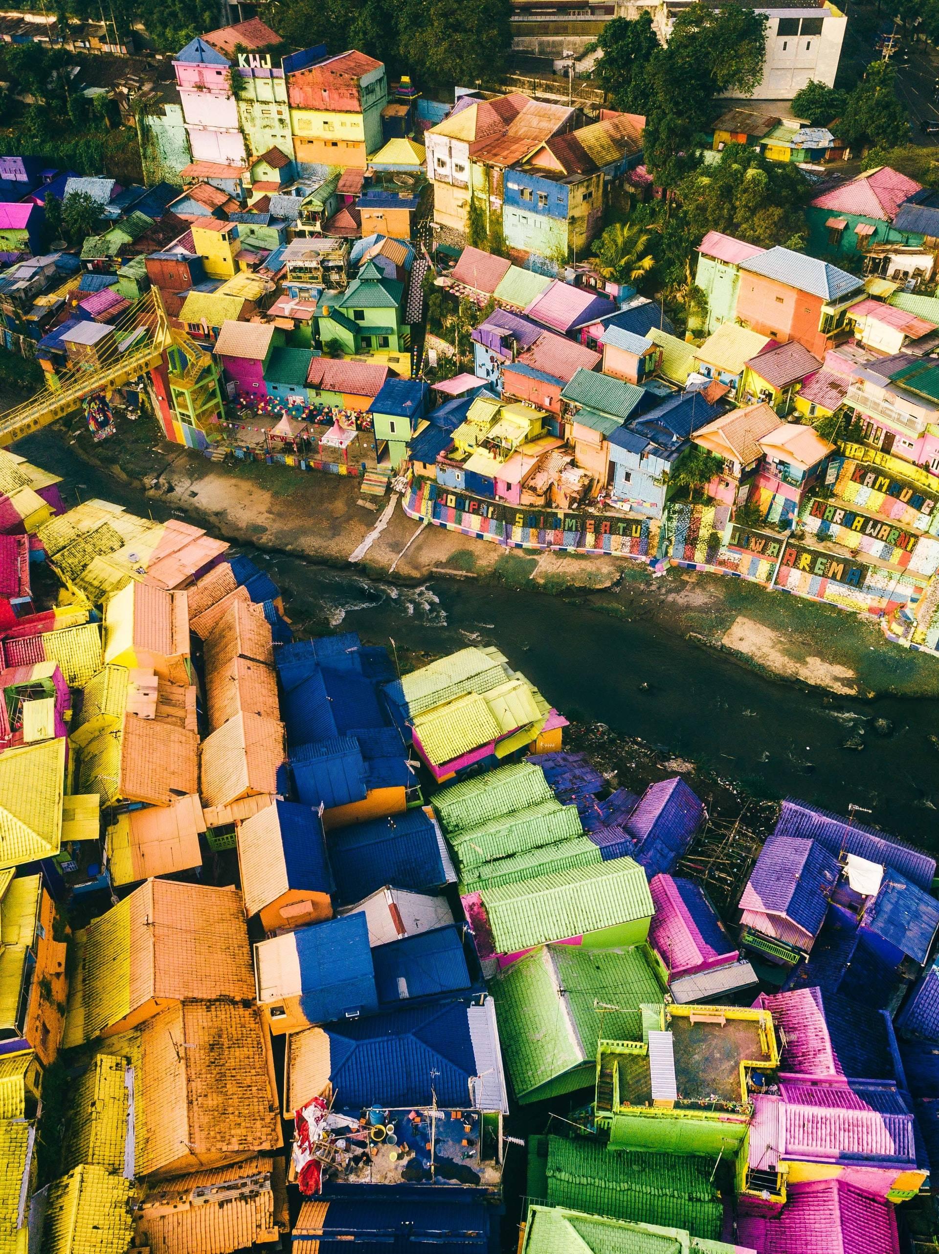 Kampung Jodipan Malang Indonesia