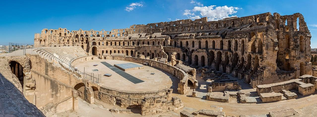 Ancient Cathaginian and Roman Landmarks Amphitheatre of El Jem