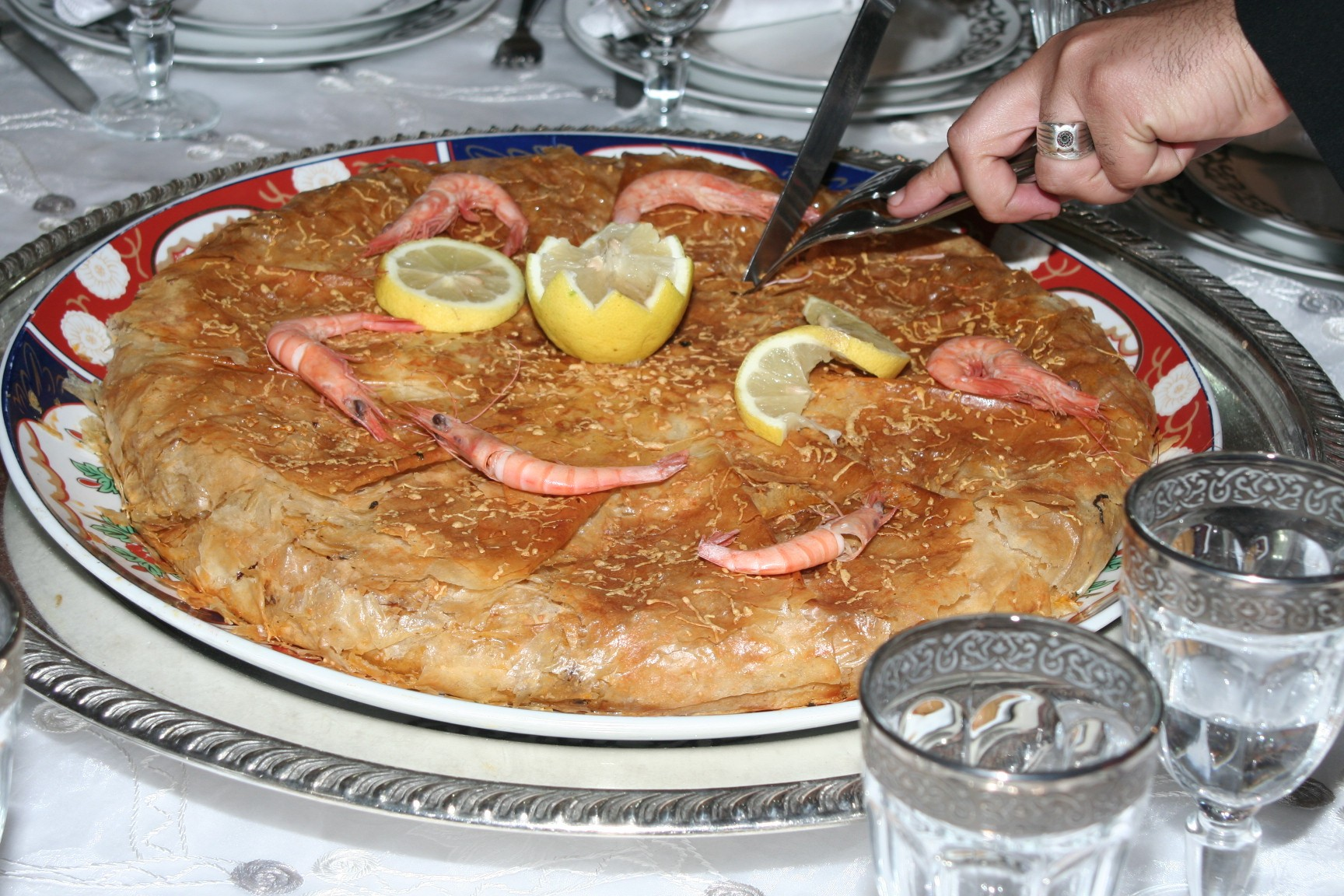 Bstilla Maghrebi North African Food