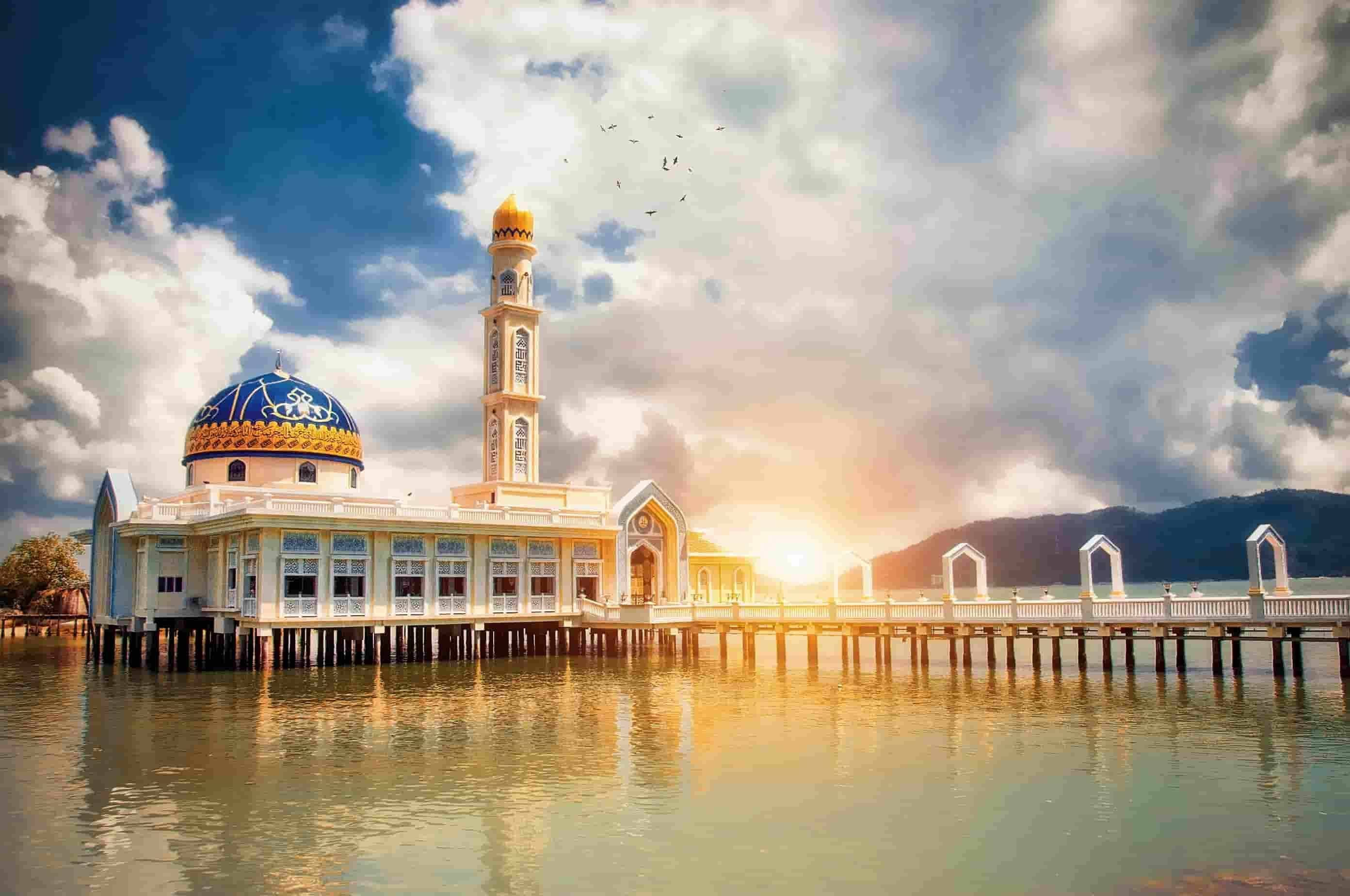 Floating mosque of Pangkor Island Malaysia