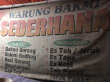 WARUNG BAKMI JOWO SEDERHANA