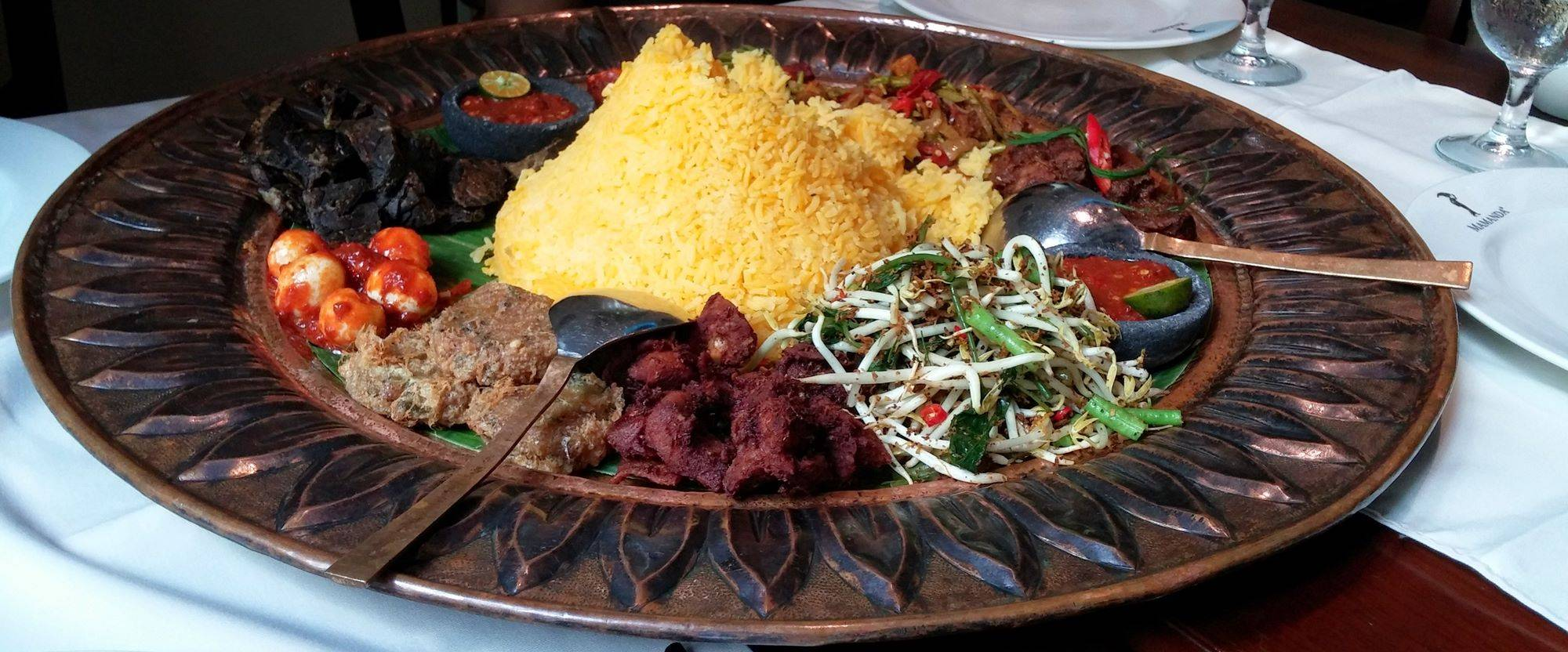 Mixed Malay food