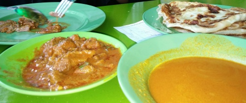 Prata w/ mutton curry