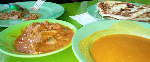 Prata w/ mutton curry
