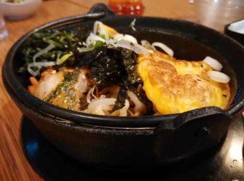 Prawn Omelette Kimgaru Bap