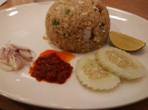 Salted Fish Fried Rice with Shrimps