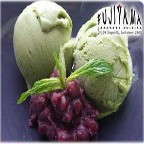 Green Tea Ice Cream with Red Bean