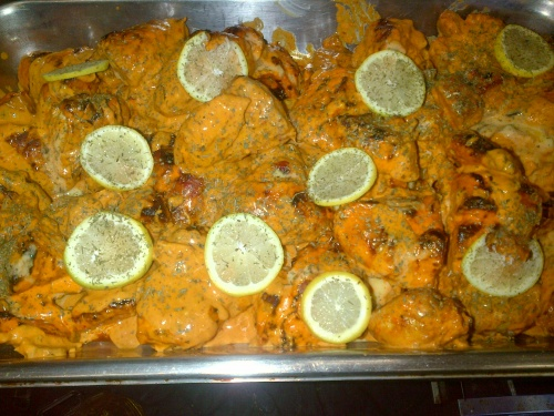 Open fire masala Portuguese prawns