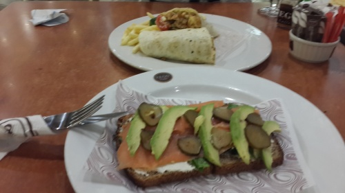 Smoked salmon open sandwhich