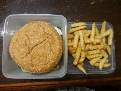 Giant Crispy Chicken Burger
