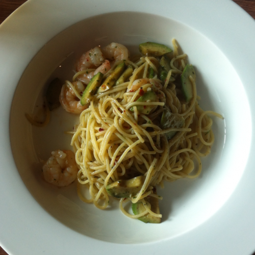 4 course lunch menu with choice of entree (choose spaghetti alla aragosta, RM18)