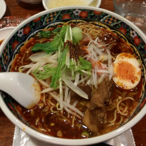 spicy lamb soup ramen