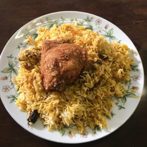 biryani&fried chicken