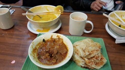 roti canal and teh tarik