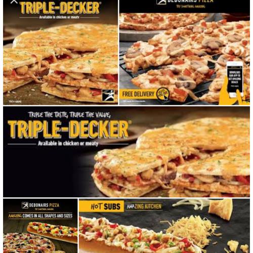Halaal pizzas