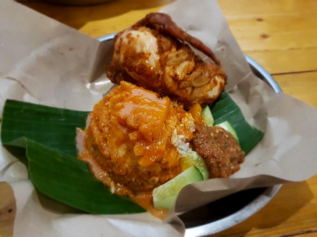 Nasi Kukus with Chicken